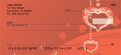 Be My Valentine Personal Checks