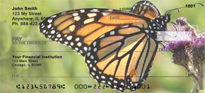 Monarch Butterflies Personal Checks