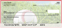 Red & White Baseball Team Personal Checks