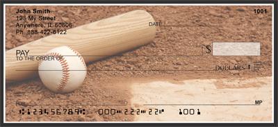 Black & White Baseball Team Personal Checks