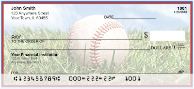 Blue & Red Baseball Team Personal Checks