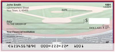 Red & Navy Baseball Team Personal Checks