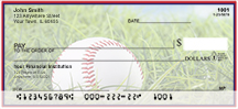 Red & Navy Baseball Team Personal Checks