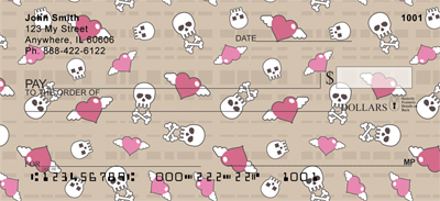Skulls and Hearts Personal Checks