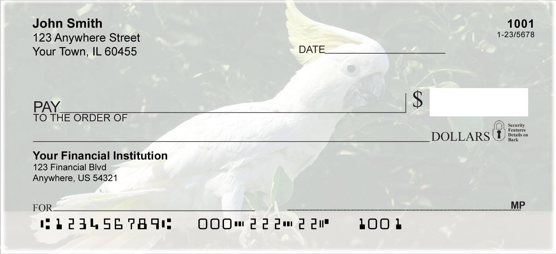 Cockatoos Personal Checks