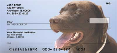 Chocolate Labradors Personal Checks