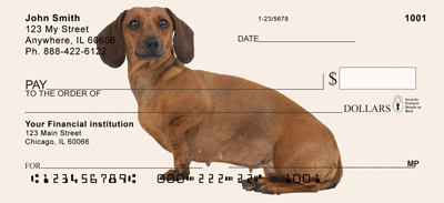 Dachshunds Personal Checks