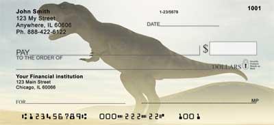 Dinosaurs Personal Checks