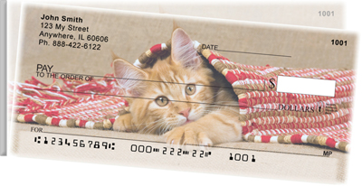 Cute Kittens Side Tear Personal Checks