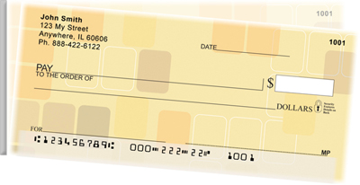 Retro Square Side Tear Personal Checks