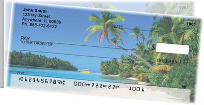 Island Paradise Side Tear Personal Checks