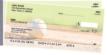 Baseball Side Tear Personal Checks