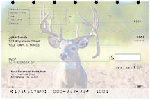 Big Horned Buck Deer Top Stub Personal Checks