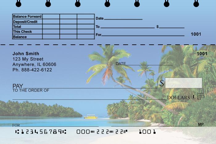 Island Paradise Top Stub Personal Checks