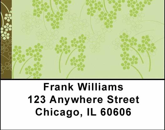 Soft Vines Address Labels