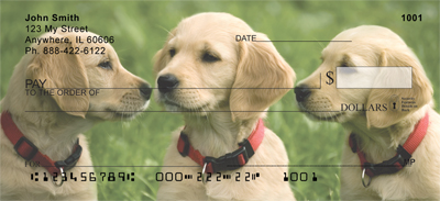 Cute Puppies Personal Checks