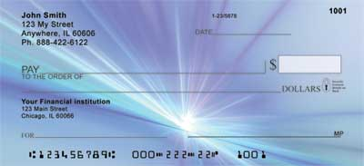 Spark of a Blue Flame Personal Checks