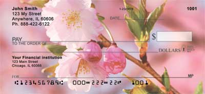 Cherry Blossoms Personal Checks