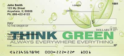 Think Green Personal Checks