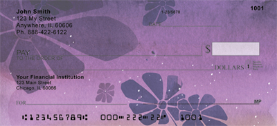 Deep Purple Dreams Personal Checks