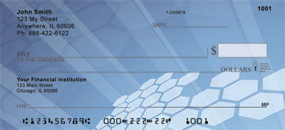Digital Hexagons Personal Checks
