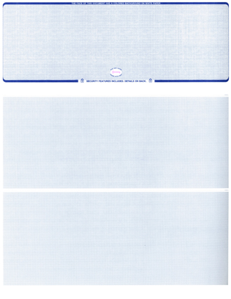 Blue Safety Blank Stock High Security Top Style Voucher Computer Check