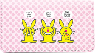 It's Happy Bunny Funny Leather Cover