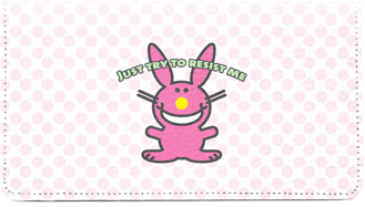 It's Happy Bunny Girly Leather Cover