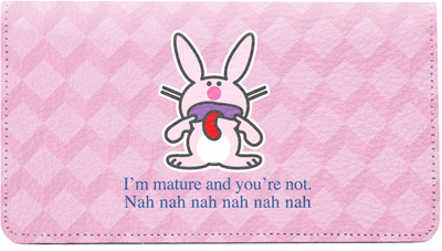 It's Happy Bunny Insults Leather Cover