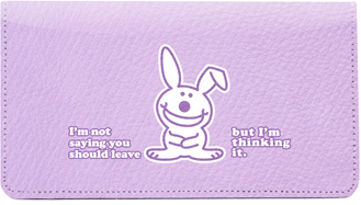 It's Happy Bunny Insults 3 Leather Cover
