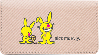 It's Happy Bunny Nice Mostly Leather Cover