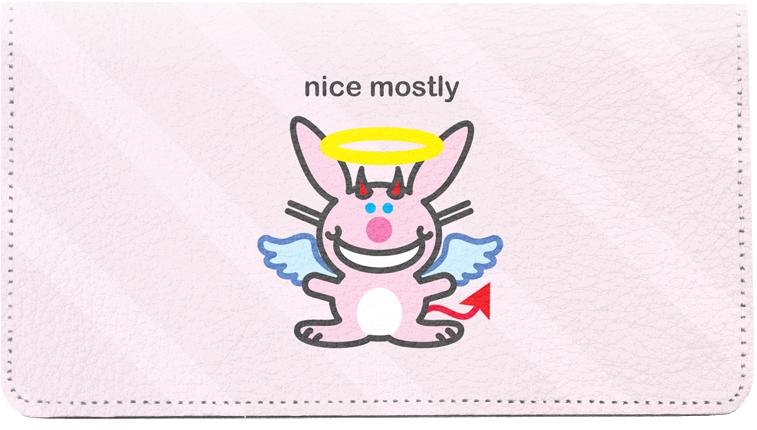 It's Happy Bunny Nice Mostly Checkbook 2