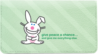 It's Happy Bunny Peace Leather Cover