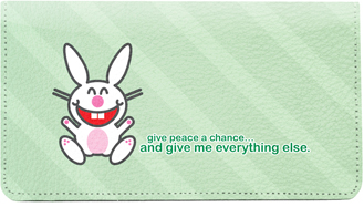 It's Happy Bunny Peace 2 Leather Cover