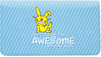 Its Happy Bunny Leather Cover