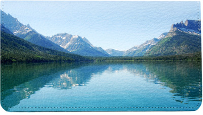 Mountain Lake Reflections Leather Cover