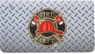 Firefighter Badges Leather Cover