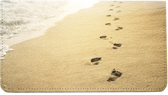 Beach Scenery Leather Cover