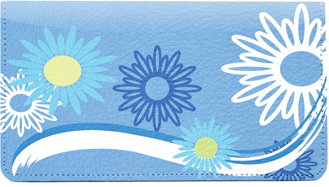 Sweeping Daisies Leather Cover