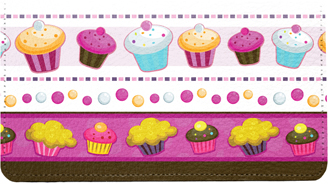 Colorful Cupcakes Leather Cover
