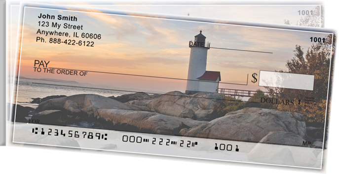 Lighthouses Scenic Views Side Tear Personal Checks