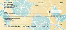 Stylistic Flowers Personal Check