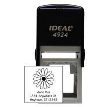 Designer Flower Square Stamp