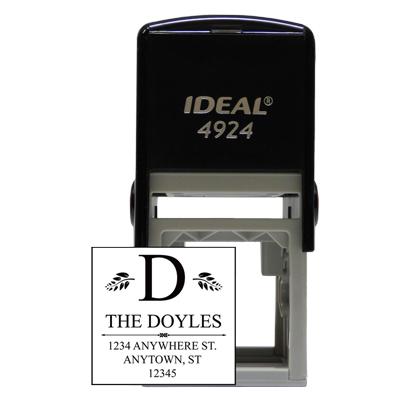 Designer Monogram Square Stamp