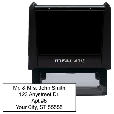 4 Line Address Stamp