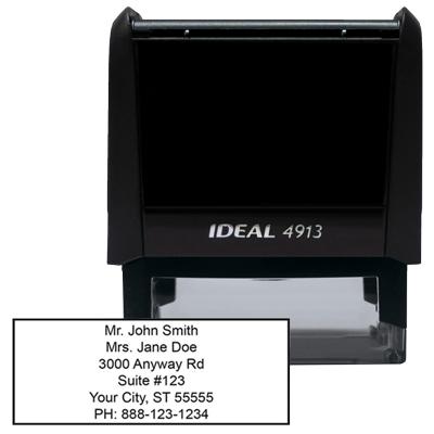 6 Line Address Stamp