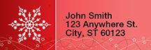 Holiday Sparkle Rectangle Address Labels