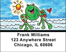 Marina Frog Address Labels by Amy S. Petrik