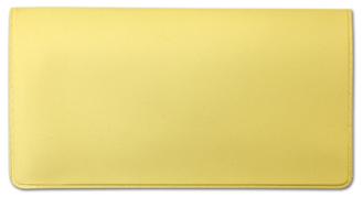 Light Yellow Vinyl Check Book Cover