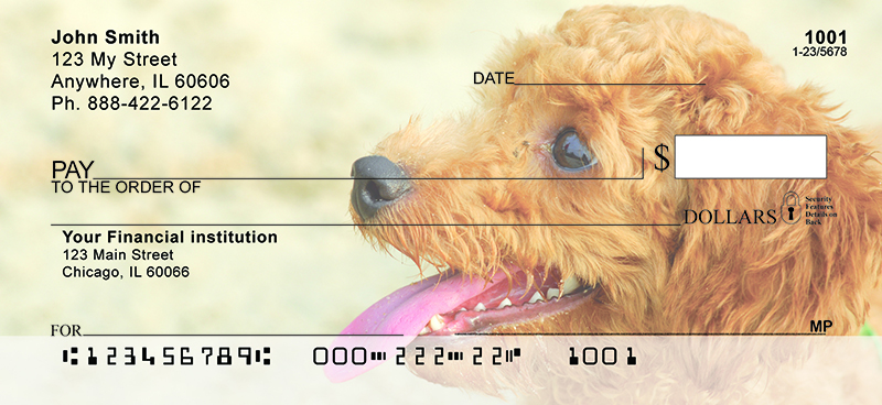 Toy Poodles Personal Checks